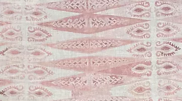 ZIG ZAG MAXI Dusty Pink Oyster Linen