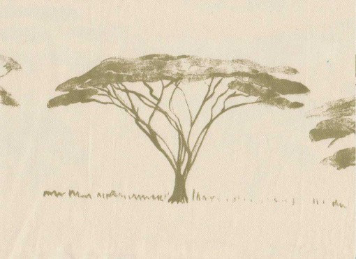 Mally Skok Botswana Trees Peridot on Canvas