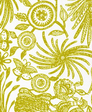 Tillett Textiles Ixtaplauca Charteuse