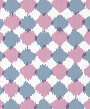 Tillett Textiles Chit Chat JD Blue & Pink Pansey