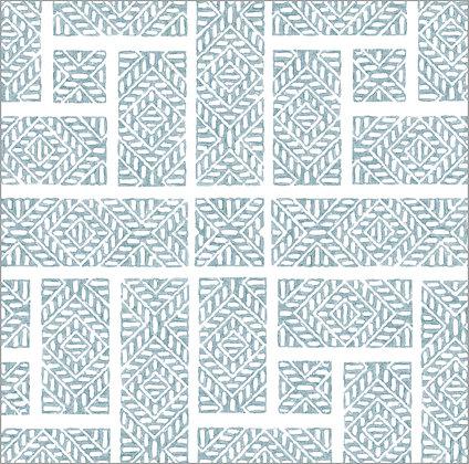 Ferran Textiles Wallpaper Shoji Dutch Blue