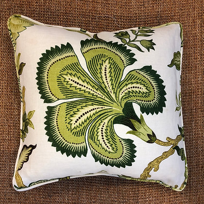 Hot House Flowers Green Cushion