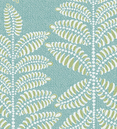 Ferran Textiles Chiswick Fern Azure