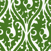 Palazzo Forest Green on White