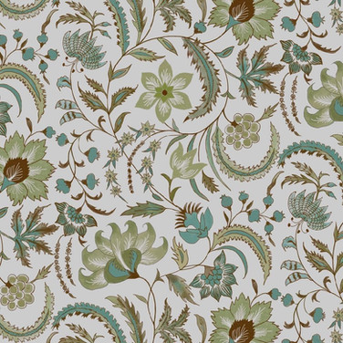 Floral Scroll Green Oyster