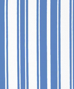 Tillett Textiles Evergreen Stripe Blue Lapis