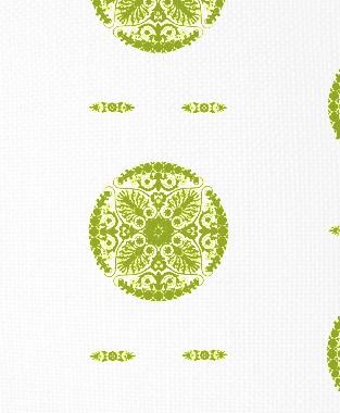 Tillett Textiles Medallion Dark Lime
