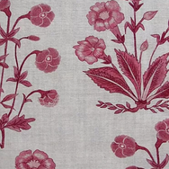 Mughal Floral Stripe Berry Natural