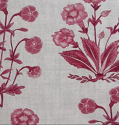 MUGHAL FLORAL Berry UK Natural Linen