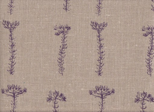 Mally Skok Fynbos Sprig Violet on Flax