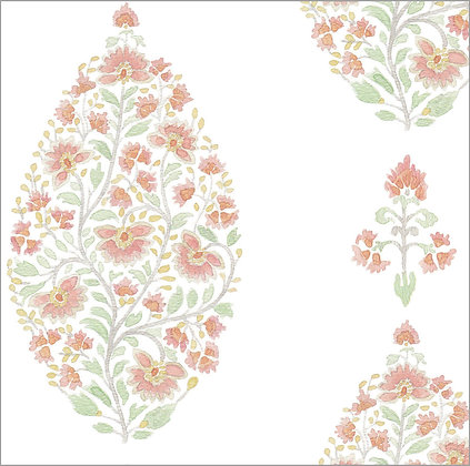 Ferran Textiles Wallpaper Palampore Clay