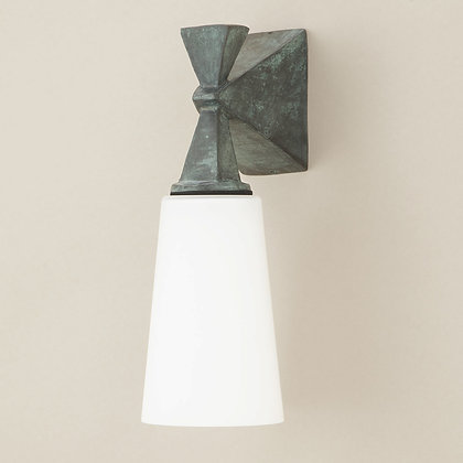 Axel Outdoor Wall Lamp Green Bronze