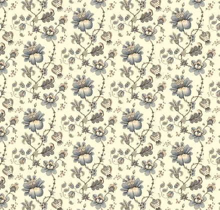 Stoke Lane Francis Floral Taupe
