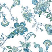 Leigh Floral Blue Green