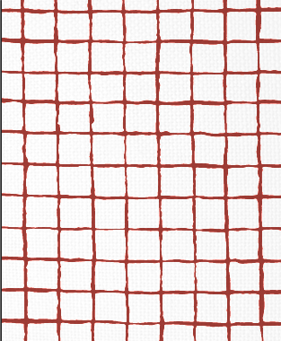 Tillett Textiles Grid Alert Deep Coral
