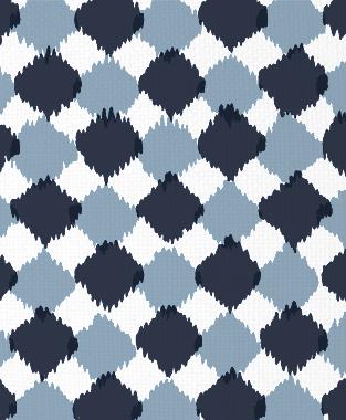 Tillett Textiles Chit Chat Navy & JD Blue