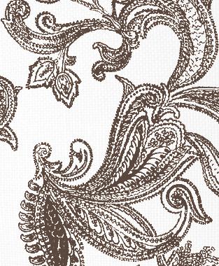 Tillett Textiles Kingston Paisley Cocoa