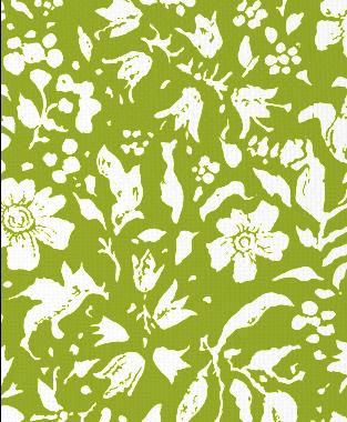 Tillett Textiles Wild Flower Blotch Dark Lime