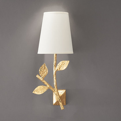 Flora simple wall lamp Gold