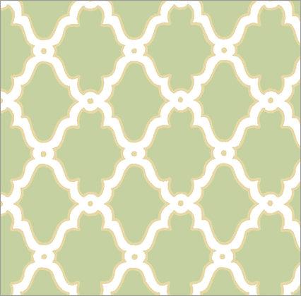 Ferran Textiles Wallpaper Lattice Lemongrass