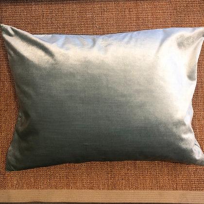Blue Metallic Velvet Cushion