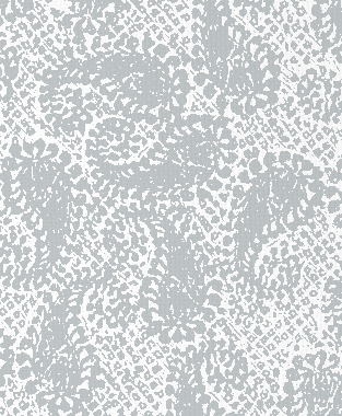 Tillett Textiles Paisley Patch Metallic Silver