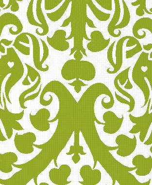 Tillett Textiles Millerton Damask Dark Lime