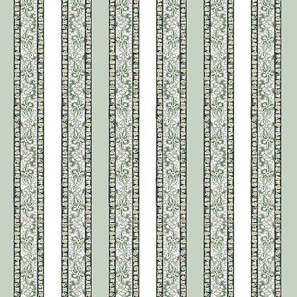 Stoke Lane Pimlico Stripe Antique Green