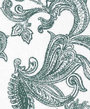 Tillett Textiles Kingston Paisley Deep sea