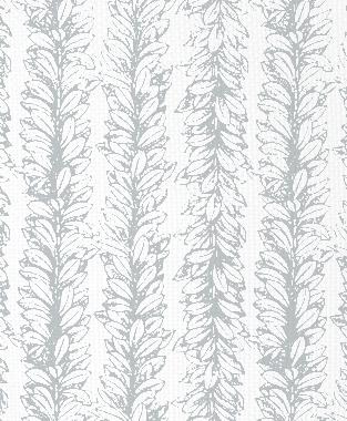 Tillett Textiles Leaves a Scrollin Metallic Silver