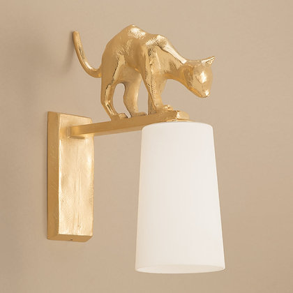 Lola Outdoor Wall Lamp Gold