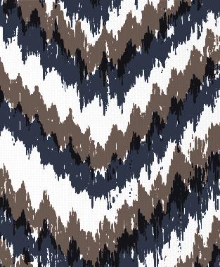 Tillett Textiles Ikat Timer Navy & Cocoa