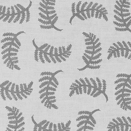 Madder Cutch & Co Achillea Foliage Small Slate Grey on White