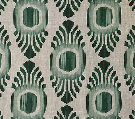 IKAT MINI Emerald UK Natural Linen
