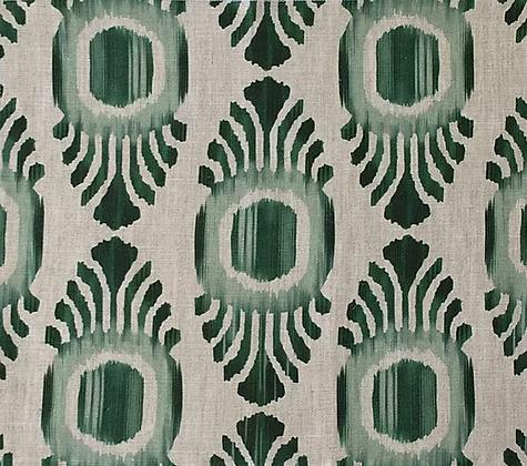 IKAT MINI Emerald Oyster Linen