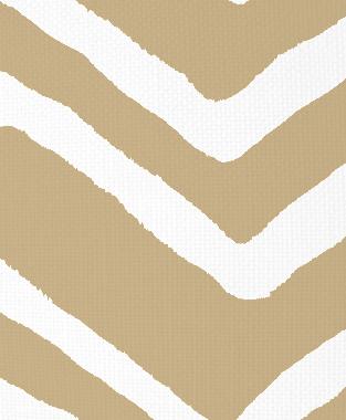 Tillett Textiles Ikat Chevron Kahki