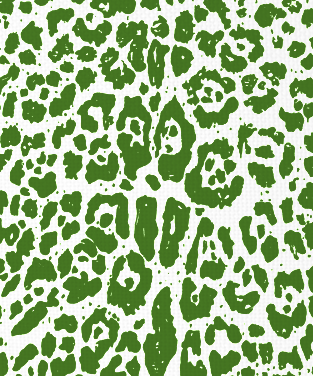 DD's Ocelot Forest Green on White