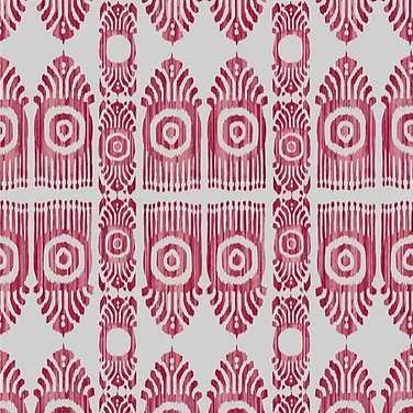 Serena Ikat Pink & Red Oyster
