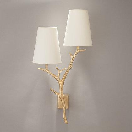 Antler wall lamp Gold