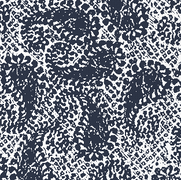 Paisley Patch Navy on White