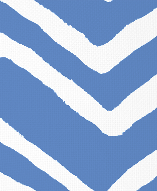 Tillett Textiles Ikat Chevron Blue Lapis