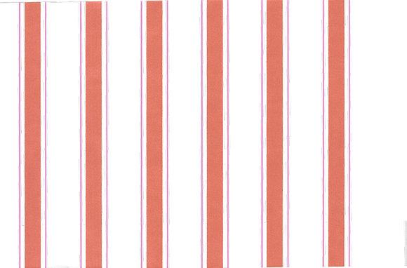 Mally Skok Indian Stripe Wallpaper Orange/Pink