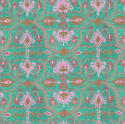 Ferran Textiles Wallpaper Lampang Emerald