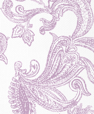Tillett Textiles Kingston Paisley Violet