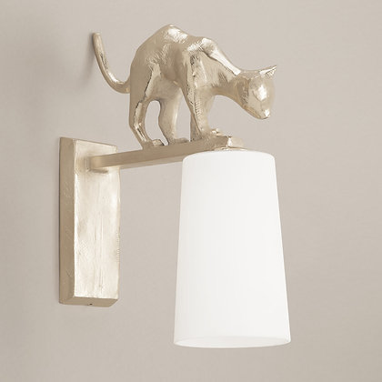 Lola Outdoor Wall Lamp Nickle
