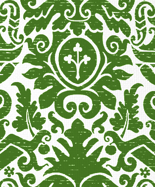 Deauville Forest Green on White