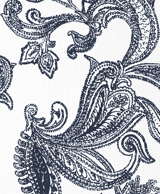 Tillett Textiles Kingston Paisley Navy