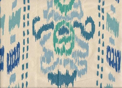 Mally Skok Ikat Crazy Blue on Silk