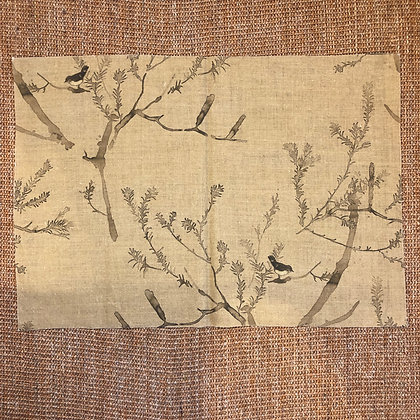 Brown Bird Linen Piece