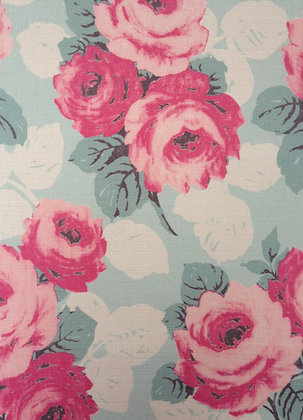 Sarah Hardaker Faded Roses Duck Egg and Pink